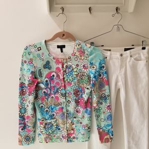 VGUC Escada Sport Floral Cotton Blend Cardigan (S)